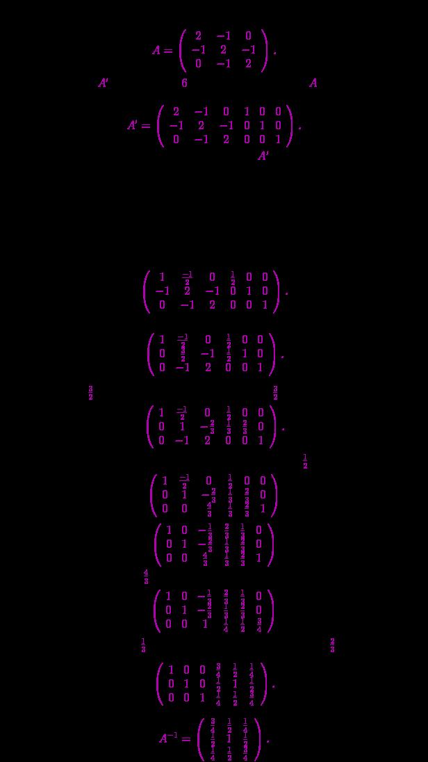 Inversa unei matrice folosind metoda Jordan-Gauss